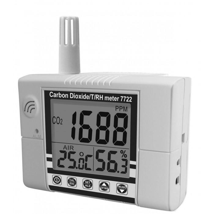 Настенный контроллер углекислого газа, термогигрометр 7722