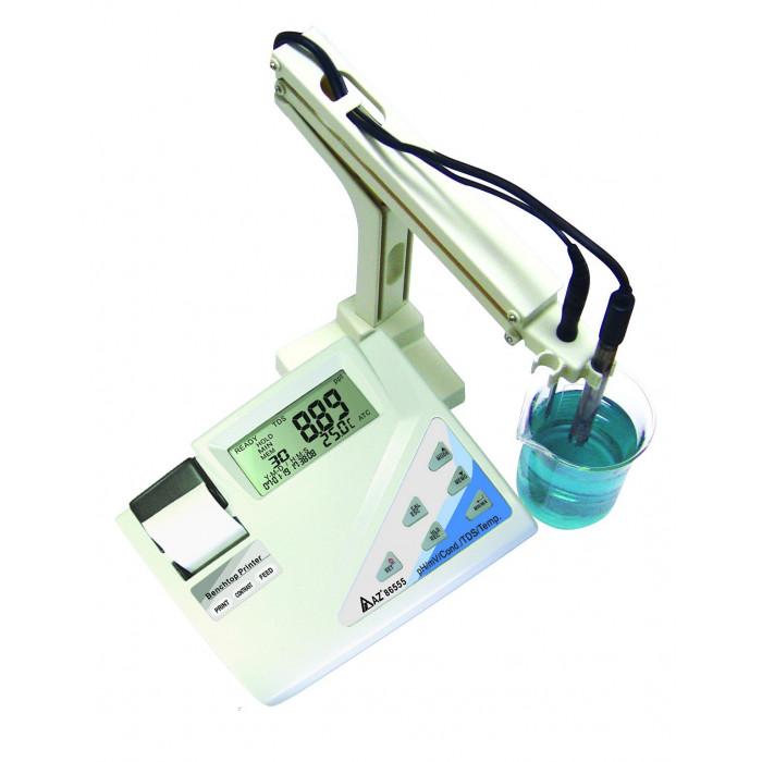 Лабораторный измеритель качества воды (pH, ORP, EC, TDS) со встроенным принтером 86555