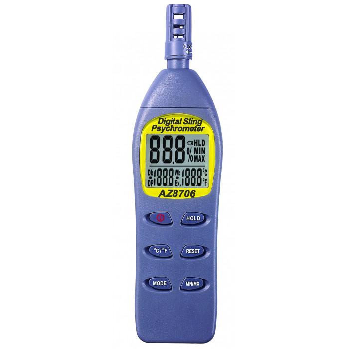 Термогигрометр с функциями измерения температуры точки росы и ощущаемой температуры 8706