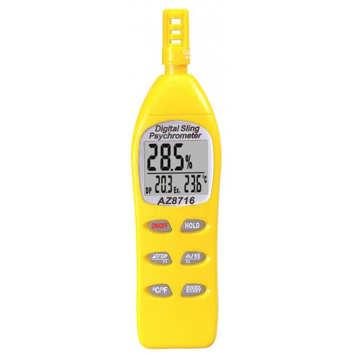 Термогигрометр с функциями измерения температуры точки росы и ощущаемой температуры 8716