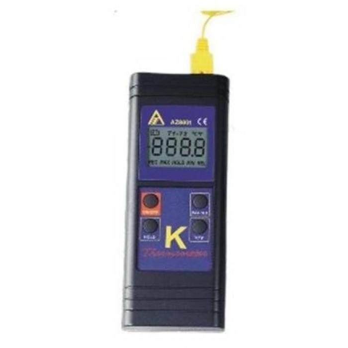 Цифровой контактный термометр с термопарой K-типа 8801