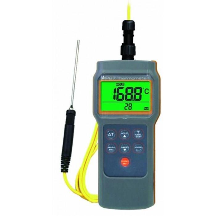 Влагостойкий контактный термометр с выносным термодатчиком K-типа 8802