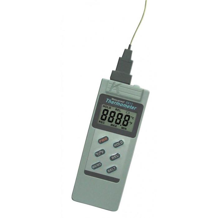 Водонепроницаемый контактный термометр с термопарой K-типа 8811