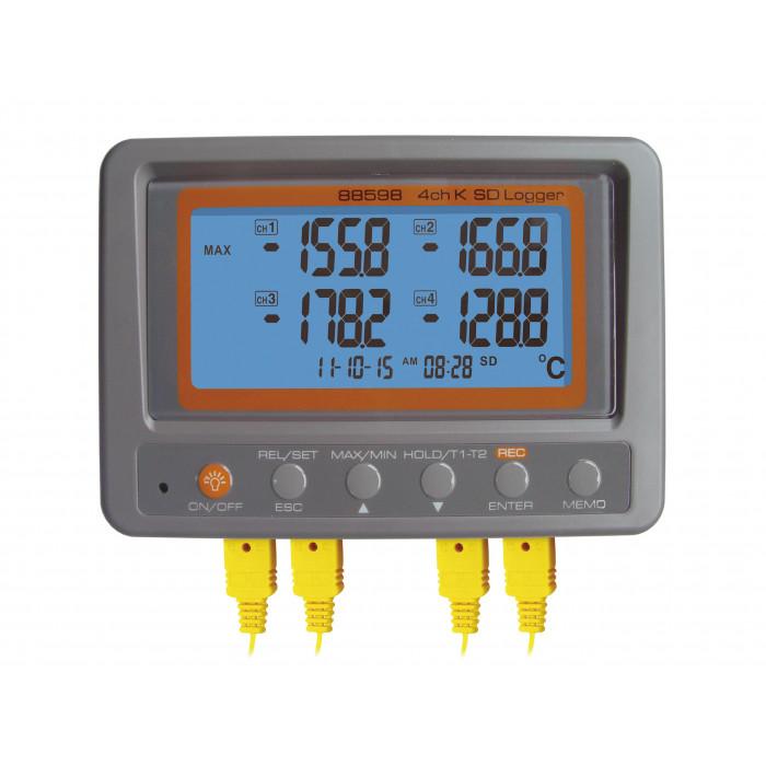 4-х канальный температурный регистратор с термопарами K-типа 88598