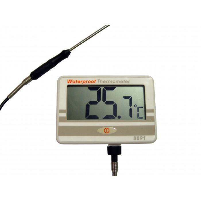 Водонепроницаемый контактный термометр с выносным длинным щупом  8891
