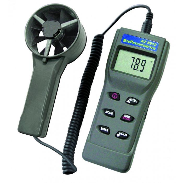 Термоанемометр, гигрометр, измеритель тепловой энергии с выносным датчиком 8912