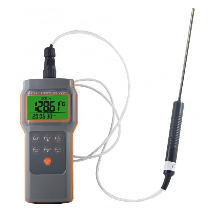 Влагостойкий контактный термометр с выносным термодатчиком RTD-типа 8822