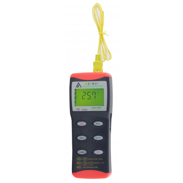 Цифровой контактный термометр с 2-мя входами, совместимый с термопарами K/J/T/R/S/E-типа 8856