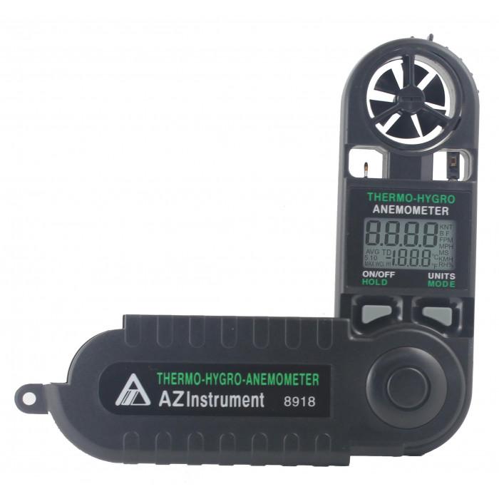 Компактный термоанемометр, гигрометр с фиксированным датчиком 8918