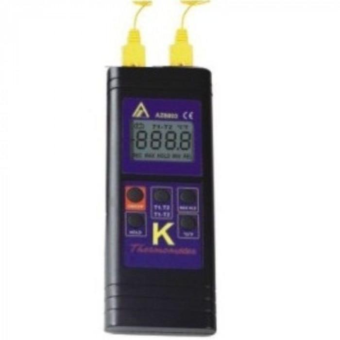 Цифровой контактный термометр с 2-мя термопарами K-типа 8803