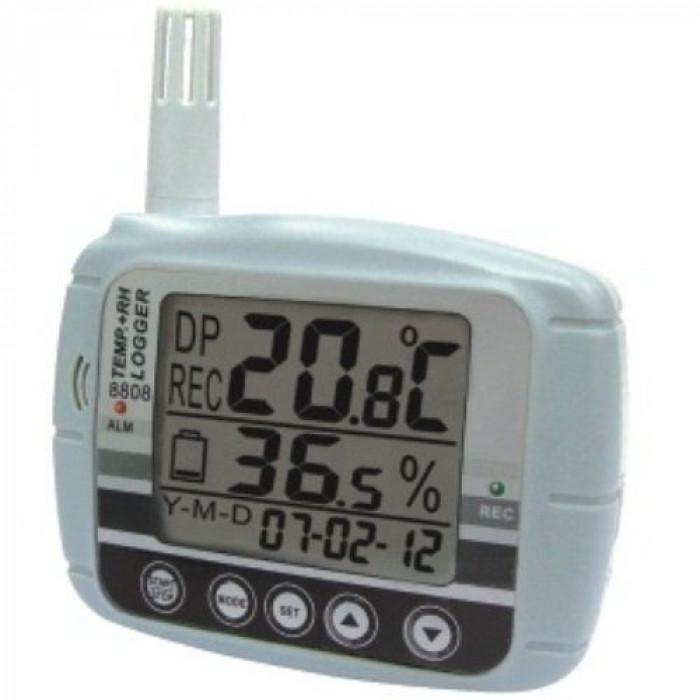 Настенный регистратор температуры и влажности воздуха с ЖК дисплеем 8808