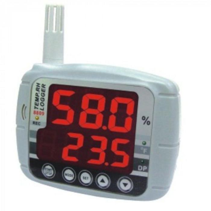 Настенный регистратор температуры и влажности воздуха со светодиодным дисплеем 8809