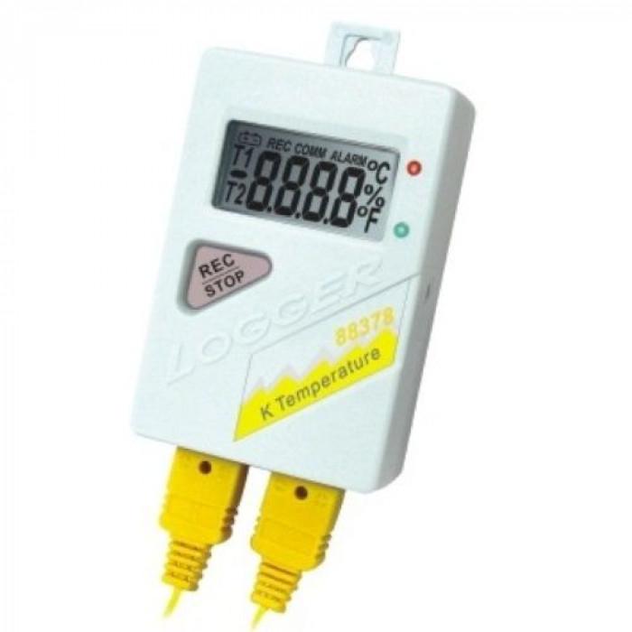 2-х канальный температурный регистратор с термопарами K-типа 88378