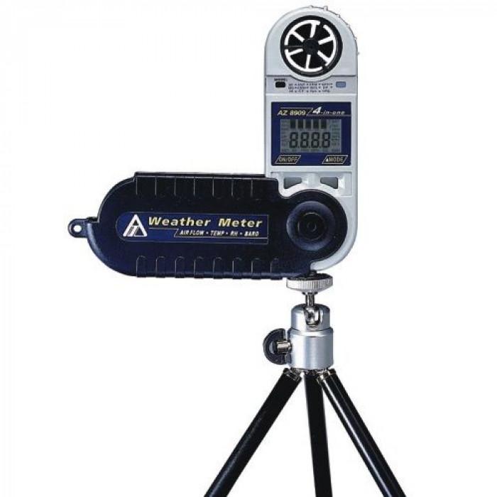 Компактный термоанемометр, психрометр с фиксированным датчиком с функцией барометра 8909