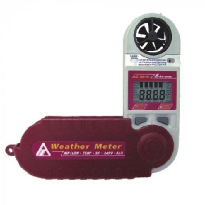 Компактный термоанемометр, психрометр с фиксированным датчиком с функцией барометра и высотомера 8910