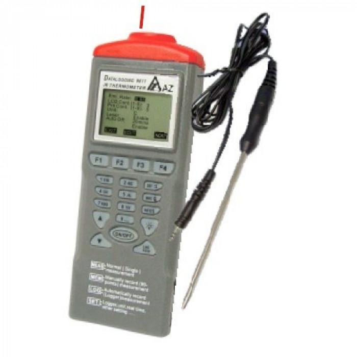 Комбинированный термометр-регистратор с инфракрасным и контактным датчиками 9612