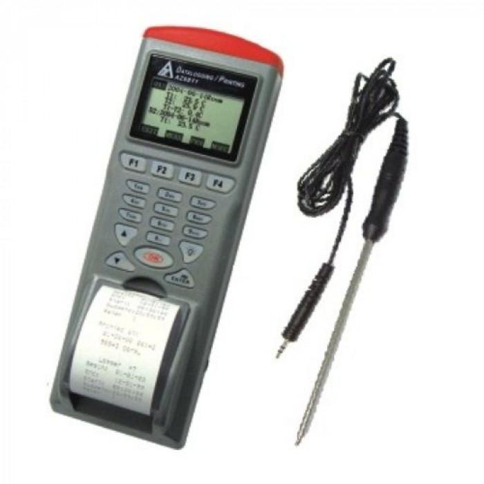 Комбинированный температурный регистратор с инфракрасным и контактным датчиками со встроенным принтером 9812