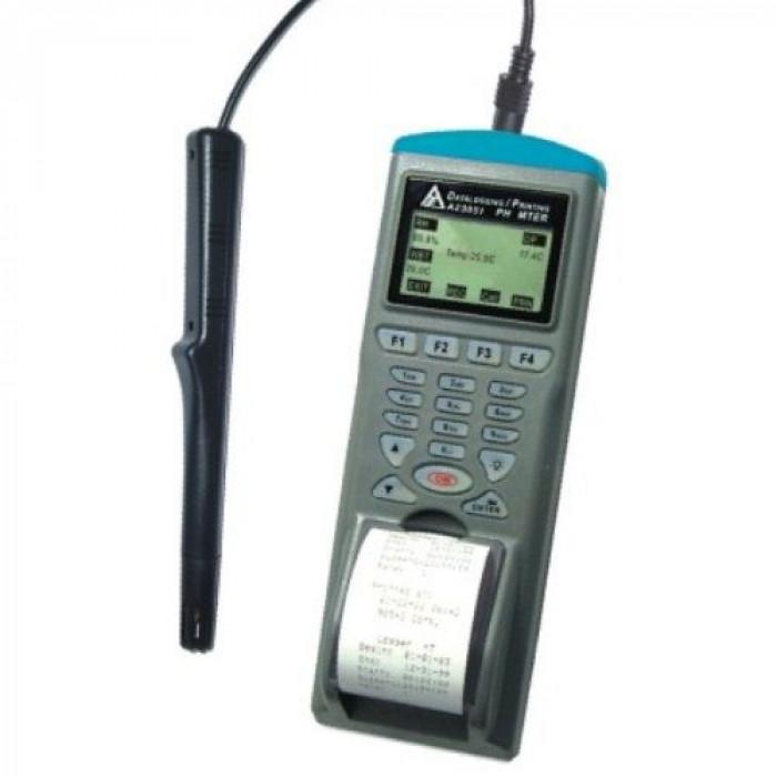 Регистратор температуры и влажности воздуха с выносным датчиком и встроенным принтером 9851