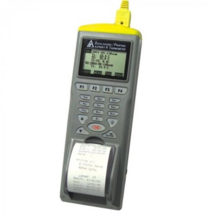 Контактный термометр с термопарой K-типа со встроенным принтером 9881